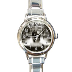 Black And White Hdr Spreebogen Round Italian Charm Watch