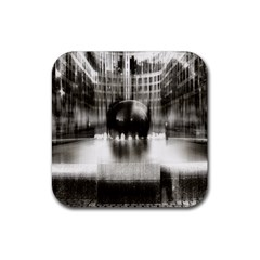 Black And White Hdr Spreebogen Rubber Coaster (square)