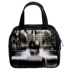 Black And White Hdr Spreebogen Classic Handbags (2 Sides)
