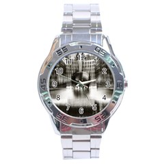 Black And White Hdr Spreebogen Stainless Steel Analogue Watch