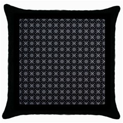 Kaleidoscope Seamless Pattern Throw Pillow Case (black)
