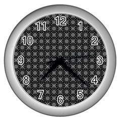 Kaleidoscope Seamless Pattern Wall Clocks (silver)  by Nexatart