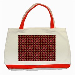 Kaleidoscope Seamless Pattern Classic Tote Bag (red) by Nexatart