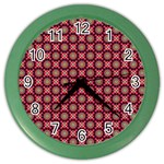 Kaleidoscope Seamless Pattern Color Wall Clocks Front