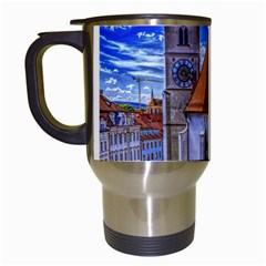 Steeple Church Building Sky Great Travel Mugs (white) by Nexatart