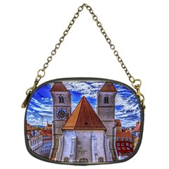Steeple Church Building Sky Great Chain Purses (one Side)