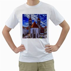 Steeple Church Building Sky Great Men s T Shirt (white)