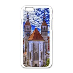 Steeple Church Building Sky Great Apple Iphone 6/6s White Enamel Case by Nexatart