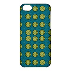 Sunshine Mandalas On Blue Apple Iphone 5c Hardshell Case by pepitasart