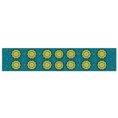 Sunshine Mandalas On Blue Flano Scarf (small) by pepitasart