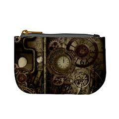 Stemapunk Design With Clocks And Gears Mini Coin Purses
