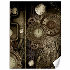Stemapunk Design With Clocks And Gears Canvas 36  X 48   by FantasyWorld7