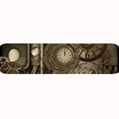 Stemapunk Design With Clocks And Gears Large Bar Mats by FantasyWorld7