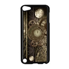Stemapunk Design With Clocks And Gears Apple Ipod Touch 5 Case (black) by FantasyWorld7