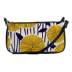 Yellow Danelion2 Shoulder Clutch Bags by justbeeinspired2
