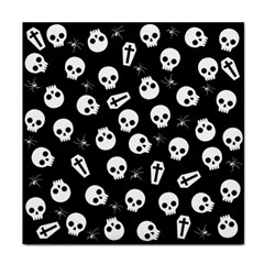 Skull, Spider And Chest    Halloween Pattern Tile Coasters by Valentinaart
