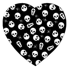 Skull, Spider And Chest    Halloween Pattern Jigsaw Puzzle (heart)