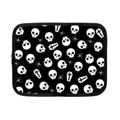 Skull, Spider And Chest    Halloween Pattern Netbook Case (small)  by Valentinaart