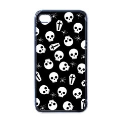 Skull, Spider And Chest    Halloween Pattern Apple Iphone 4 Case (black) by Valentinaart