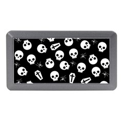 Skull, Spider And Chest    Halloween Pattern Memory Card Reader (mini) by Valentinaart