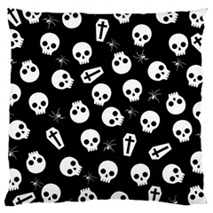Skull, Spider And Chest    Halloween Pattern Large Cushion Case (two Sides)