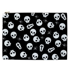 Skull, Spider And Chest    Halloween Pattern Cosmetic Bag (xxl)