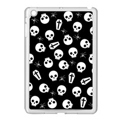 Skull, Spider And Chest    Halloween Pattern Apple Ipad Mini Case (white) by Valentinaart
