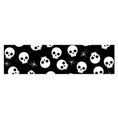 Skull, Spider And Chest    Halloween Pattern Satin Scarf (oblong) by Valentinaart