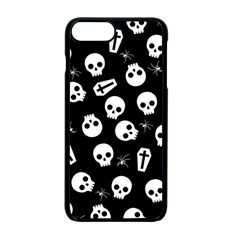 Skull, Spider And Chest    Halloween Pattern Apple Iphone 7 Plus Seamless Case (black) by Valentinaart