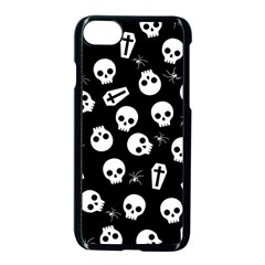 Skull, Spider And Chest    Halloween Pattern Apple Iphone 7 Seamless Case (black) by Valentinaart