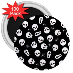 Skull, Spider And Chest    Halloween Pattern 3  Magnets (100 Pack) by Valentinaart