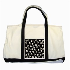 Skull, Spider And Chest    Halloween Pattern Two Tone Tote Bag