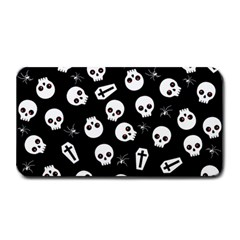 Skull, Spider And Chest    Halloween Pattern Medium Bar Mats by Valentinaart