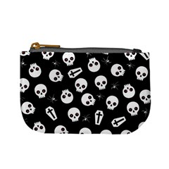 Skull, Spider And Chest    Halloween Pattern Mini Coin Purses
