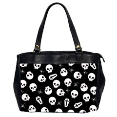 Skull, Spider And Chest    Halloween Pattern Office Handbags (2 Sides)  by Valentinaart