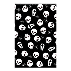 Skull, Spider And Chest    Halloween Pattern Shower Curtain 48  X 72  (small)  by Valentinaart