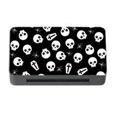 Skull, Spider And Chest    Halloween Pattern Memory Card Reader With Cf by Valentinaart
