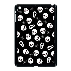 Skull, Spider And Chest    Halloween Pattern Apple Ipad Mini Case (black) by Valentinaart