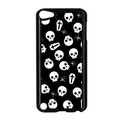 Skull, Spider And Chest    Halloween Pattern Apple Ipod Touch 5 Case (black) by Valentinaart