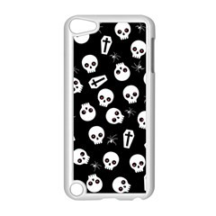 Skull, Spider And Chest    Halloween Pattern Apple Ipod Touch 5 Case (white) by Valentinaart