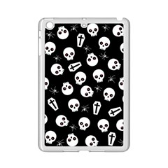 Skull, Spider And Chest    Halloween Pattern Ipad Mini 2 Enamel Coated Cases by Valentinaart
