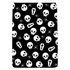 Skull, Spider And Chest    Halloween Pattern Flap Covers (l)  by Valentinaart