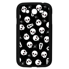 Skull, Spider And Chest    Halloween Pattern Samsung Galaxy Grand Duos I9082 Case (black) by Valentinaart