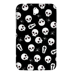 Skull, Spider And Chest    Halloween Pattern Samsung Galaxy Tab 3 (7 ) P3200 Hardshell Case  by Valentinaart