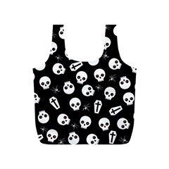 Skull, Spider And Chest    Halloween Pattern Full Print Recycle Bags (s)  by Valentinaart