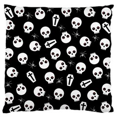 Skull, Spider And Chest    Halloween Pattern Standard Flano Cushion Case (two Sides) by Valentinaart