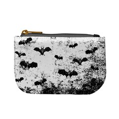 Vintage Halloween Bat Pattern Mini Coin Purses