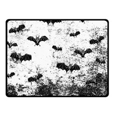 Vintage Halloween Bat Pattern Fleece Blanket (small) by Valentinaart