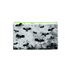 Vintage Halloween Bat Pattern Cosmetic Bag (xs) by Valentinaart