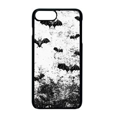 Vintage Halloween Bat Pattern Apple Iphone 7 Plus Seamless Case (black) by Valentinaart